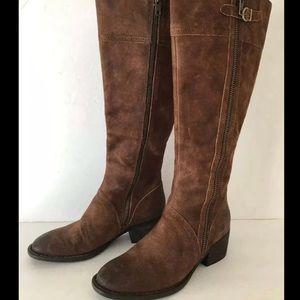 Born NWOB Sz 8 Leather Boots Zipper Tall